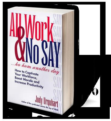 All Work & No Say Jody Urquhart Funny Motivational Speakers