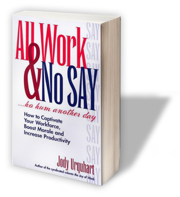 All Work & No Say Jody Urquhart Funny Motivational Speakers