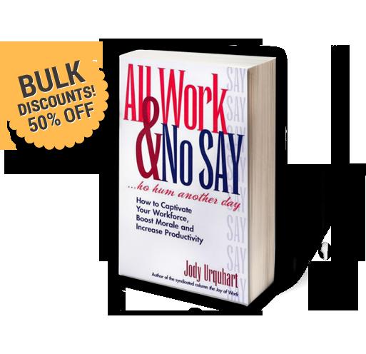 All Work and No Say Jody Urquhart Female Motivational Speaker