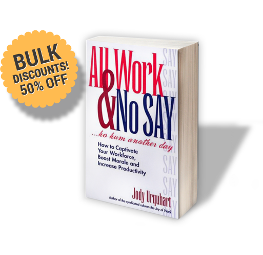 All Work and No Say Jody Urquhart Female Motivational Speaker
