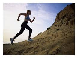 Funny Female Motivational Speaker Jogging