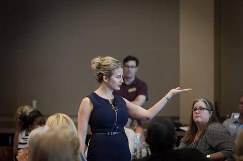 Female Motivational Speaker at Leadership Conference
