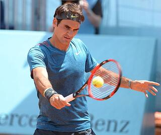 Federer Playing Tennis